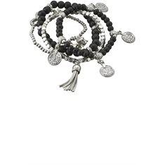 Armband Barnfonden Black/silver