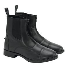 Jodphurs Emo im läder zip Junior svart