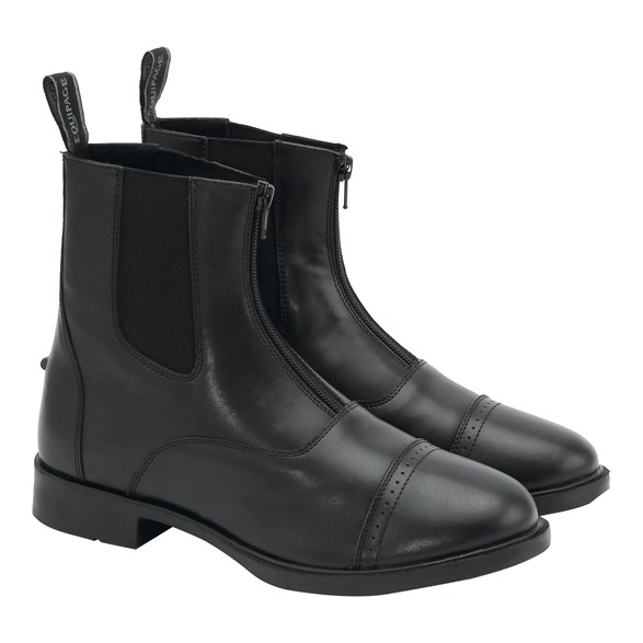 Jodphurs Emo im läder zip svart