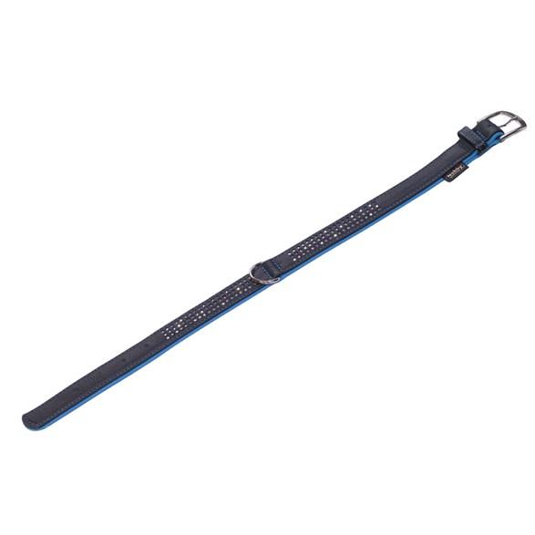 Halsband Läder Pacific DeLu 25-28/52 Turkos