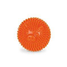 Hundleksak gummi Noppboll 6,5 orange