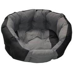 Hundbädd rund 50x40x20cm grå/svart