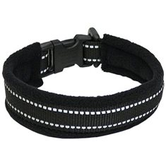 Halsband reflex svart 20cm