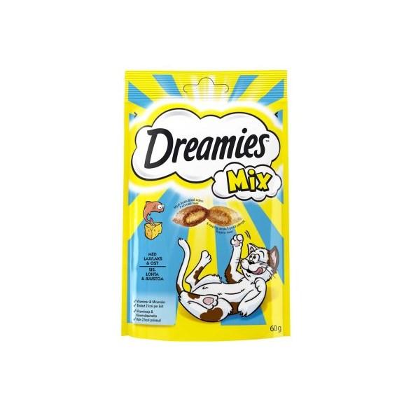 Kattgodis Dreamies Lax & Ost