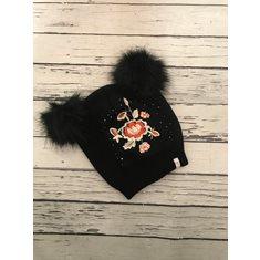 Mössa Vigga knit Pitch black