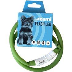 Halsband Flash Led grön 70cm