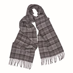 Scarf Robinson Black/grey tartan
