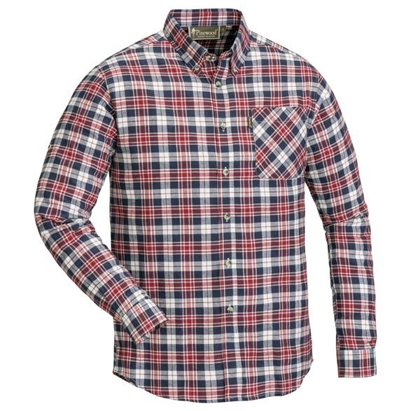 Skjorta Finnveden  Röd/marin