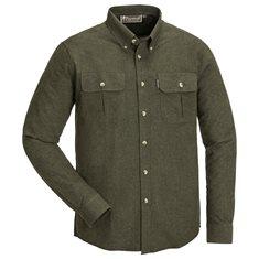 Skjorta Edmonton  mörk grön melange