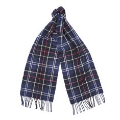Scarf Tartan Lambswool Navy/Red