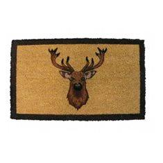 Dörrmatta Multi Deerhead brown