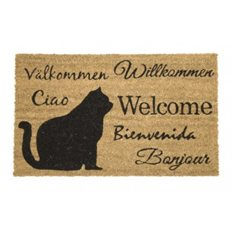 Dörrmatta Coir cats welcome