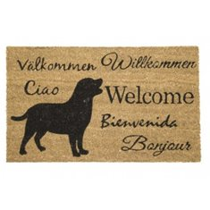 Dörrmatta Coir dogs welcome