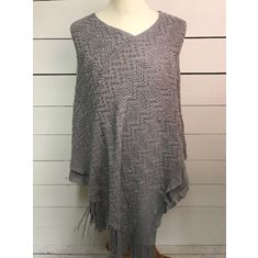 Poncho Madison Frosty grey