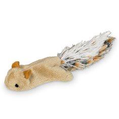 Kattleksak Plysch Ekorre  10 cm beige