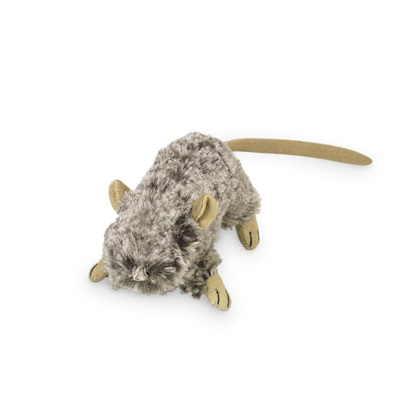 Kattleksak Plysch Mus 10 cm grå