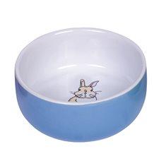 Matskål KE Rabbit 11cm Blå
