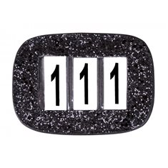 Nummerlapp Glitter black