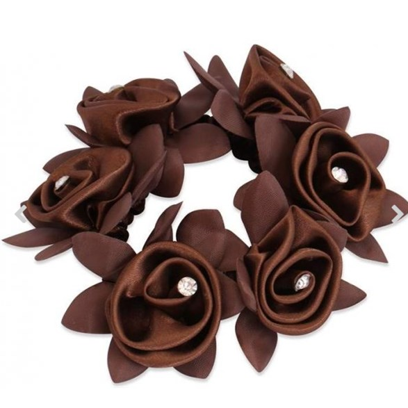 Hårsnodd Diamond Rose brown