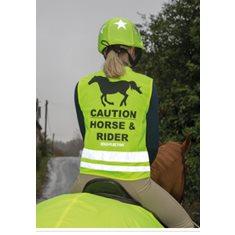 Reflexväst Rider neongul