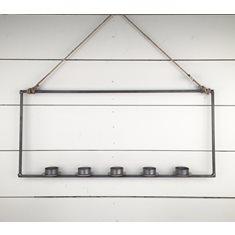Ljus i rektangel för 5 värmeljus 4mm hängande