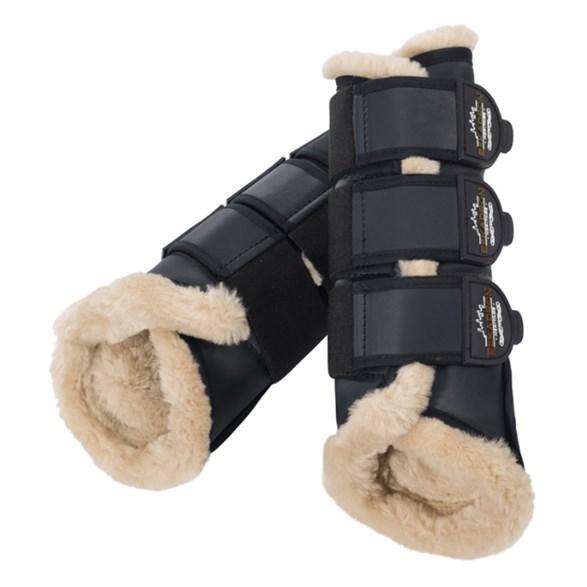 Boots Fauxfur Blackblue