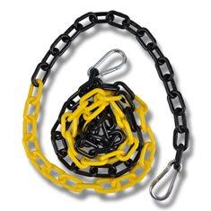 Kätting i plast 2m svart/gul