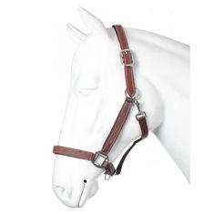 Grimma läder/nylon Ponny brown/silver