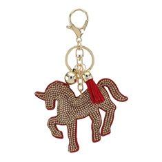 Nyckelring Horse röd