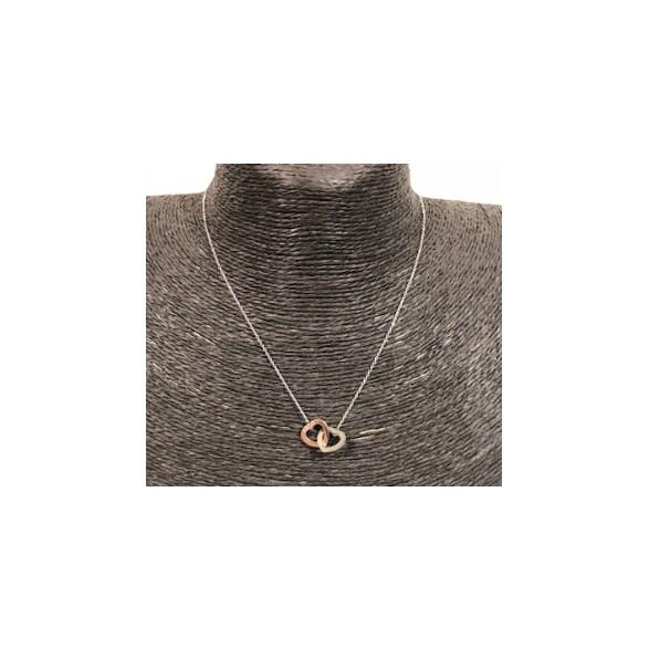 Halsband kort silver