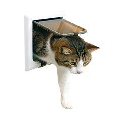 Kattdörr Freecat delux 4-v 2tunnlar vit