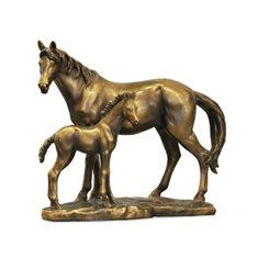 Häst m föl  22x11x18 Metall