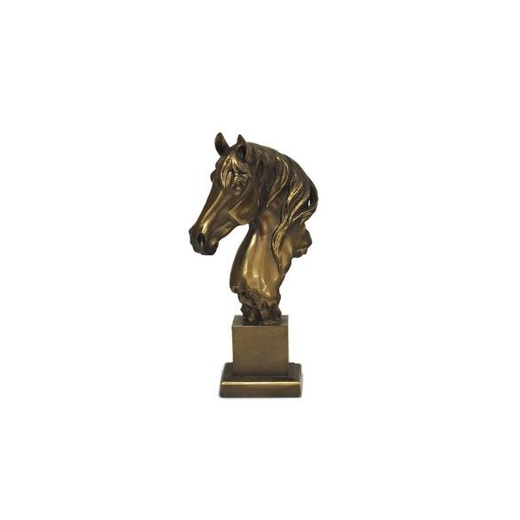 Byst Hästhuvud bronze
