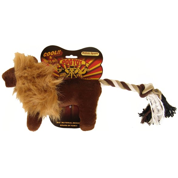 Hundleksak Plysch Lejon safari