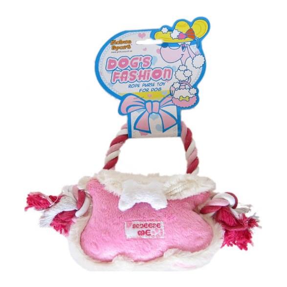 Hundleksak Plysch väska rosa