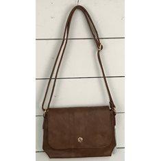 Väska klaff brun