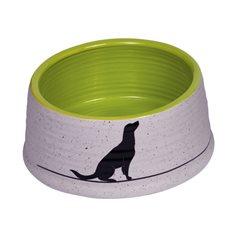 Skål Keramik Luna 15x6,5cm grå/ljusgrön