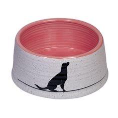 Skål Keramik Luna 15x6,5cm grå/laxrosa