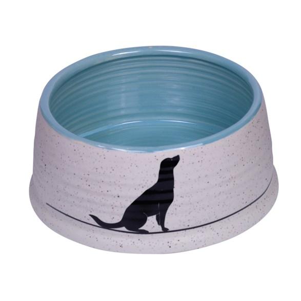 Skål Keramik Luna 15x6,5cm grå/ljusblå