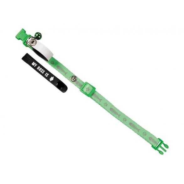Katthalsband nylon My Boss grön