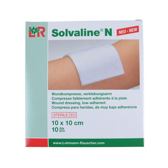 Kompress Solvaline 10x10 cm 10 st/förp