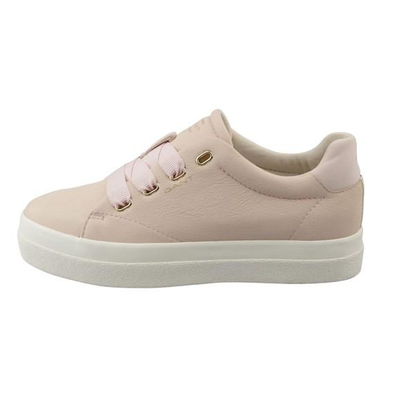 Sko Aurora low lace Silver Pink