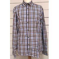 Skjorta Bamboo SR ljblå/orange