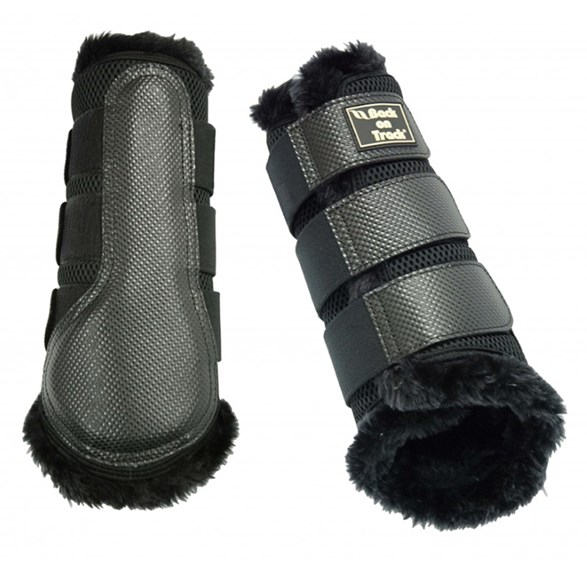 Brush boot 3D Mesh/Fur svart