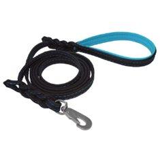 Koppel läder svart/blå