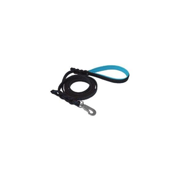 Koppel läder svart/blå 1,2*180cm