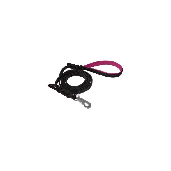 Koppel läder svart/cerise 1,2*180cm