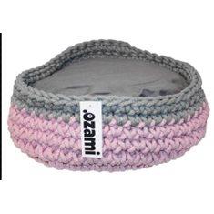 Bädd Bella 40*40*14cm grå/rosa