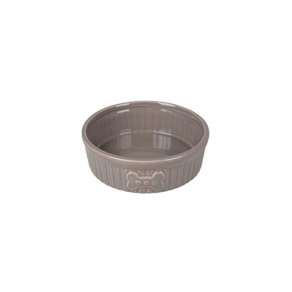 Hundskål Keramik Grå