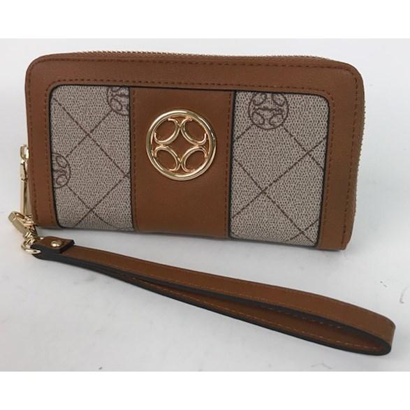 Plånbok print brun